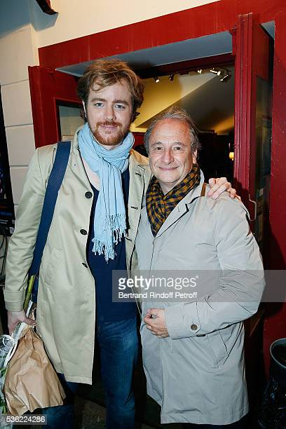 Gael Giraudeau and Patrick Braoude attend L'oiseau Bleu at Theatre Hebertot on May 31 2016 in Paris France