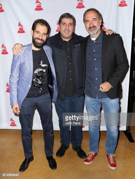 Gael Hedding Rafael Arbulu and Eduardo Bergallo attend the CPI Event during the 18th annual Latin Grammy Awards at the Hardwood Suite at Palms Casino...