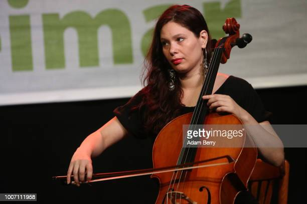 Gael Huard of the band Siach HaSadeh performs during a concert at Yiddish Summer Weimar on July 28 2018 in Weimar Germany The annual fourweek summer...