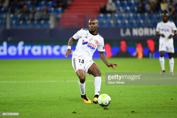 Gael Kakuta of Amiens during the Ligue 1 match between SM Caen and Amiens SC at Stade Michel D'Ornano on September 23 2017 in Caen France