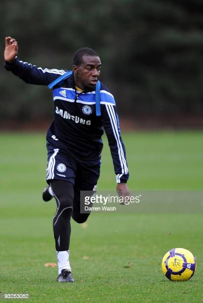 Gael Kakuta of Chelsea in action during a training session at Cobham training ground on November 20, 2009 in Cobham, England.