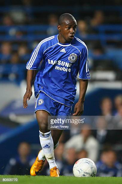 Gael Kakuta of Chelsea in action during the FA Youth Cup final first leg match between Chelsea and Manchester City at Stamford Bridge on April 3 2008...