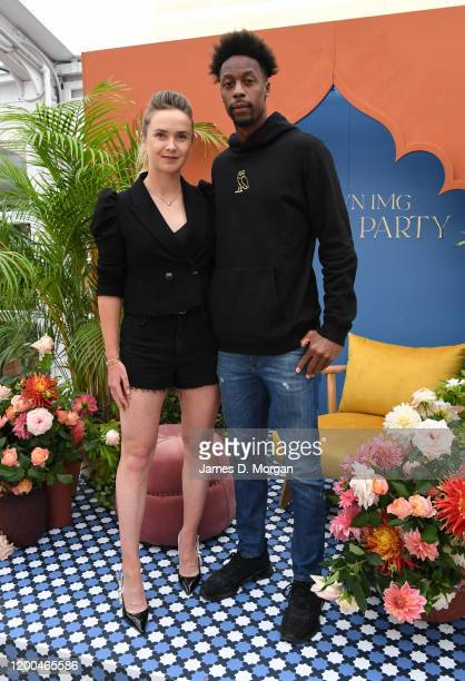 Gael Monfils and Elina Svitolina attends the Crown IMG Tennis Party on January 19, 2020 in Melbourne, Australia.