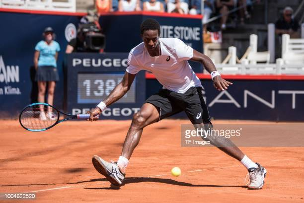 Gael Monfils in action during the German Tennis Championships at Rothenbaum on July 24 2018 in Hamburg Germany