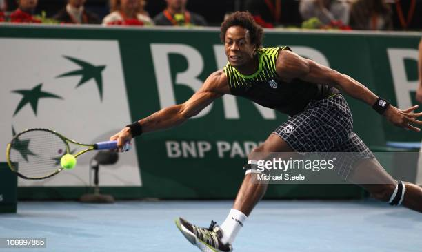 Gael Monfils of France during his match against Fernando Verdasco of Spain during Day Five of the ATP Masters Series Paris at the Palais Omnisports...