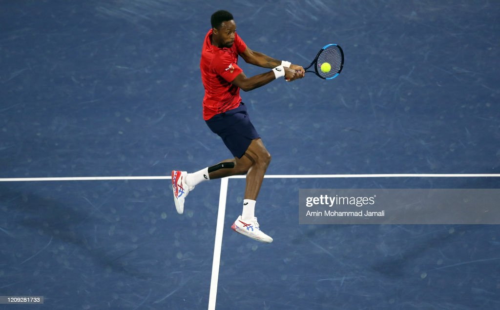 Gael Monfils Of France In Action Against Novak Djokovic Of Serbia News Photo Getty Images