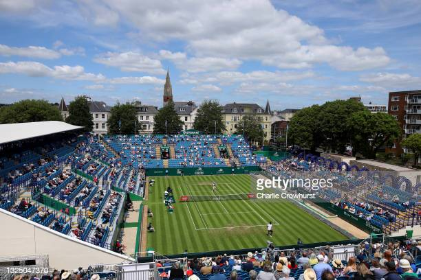 Gael Monfils of France in action during his second round mens single's match against Max Purcell of Australia during day 5 of the Viking...