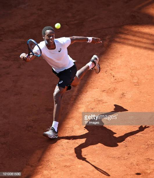 Gael Monfils of France in action during the German Tennis Championships at Rothenbaum on July 24 2018 in Hamburg Germany