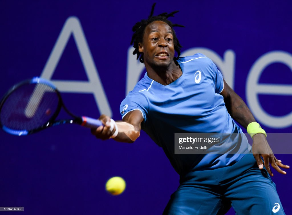 Dusan Lajovic v Gael Monfils - ATP Argentina Open - Day 4 : News Photo