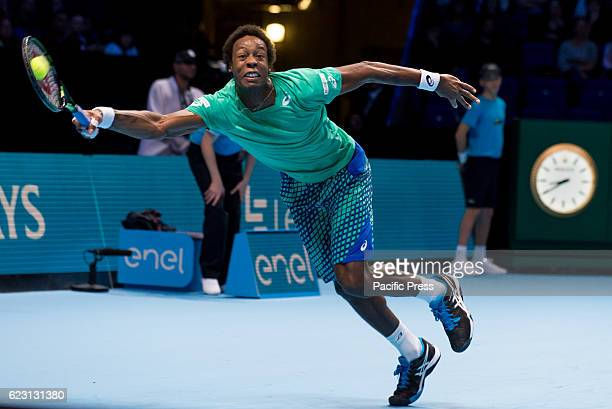 Gael Monfils play the first mach of Round Robin ATP Finals at The O2 Gael Sébastien Monfils is a French professional tennis player He reached a...