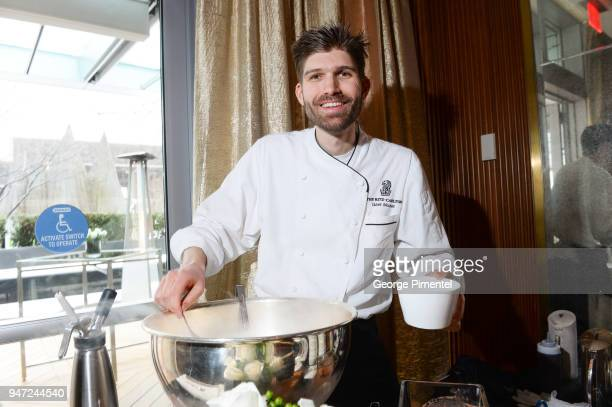 Gael Moutet Pastry Chef The RitzCarlton Toronto attends the celebration of Marriott International's announcement of their Unified Loyalty Program on...