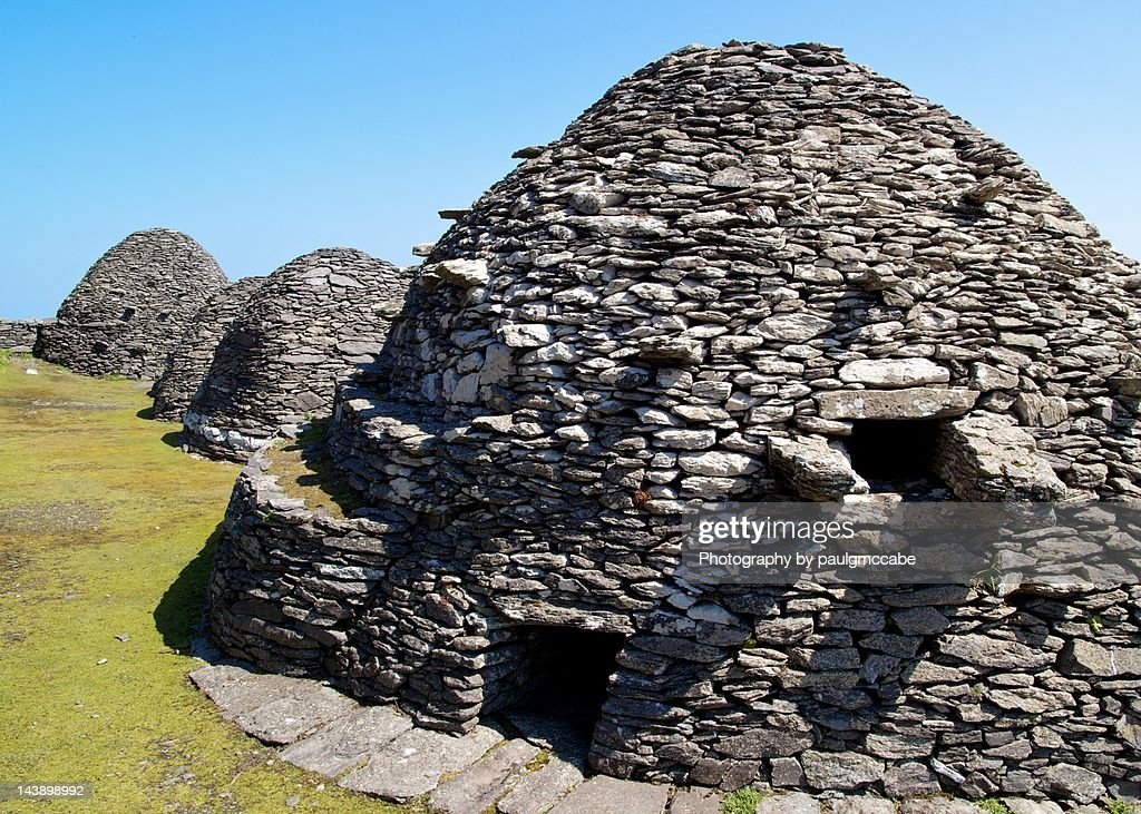 Gaelic Monastery on Skellig Michael : Stock Photo