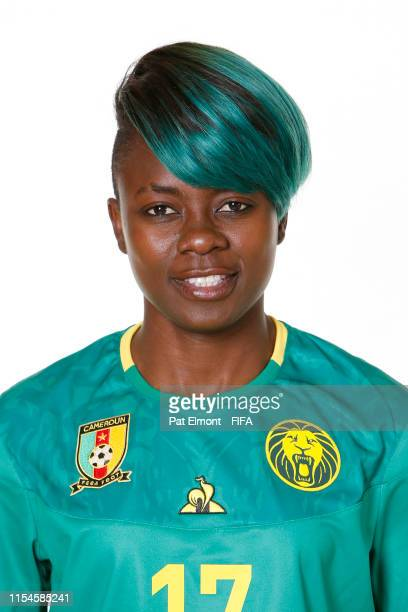 Gaelle Enganamouit of Cameroon poses for a portrait during the official FIFA Women's World Cup 2019 portrait session at Crowne Plaza Montpellier...