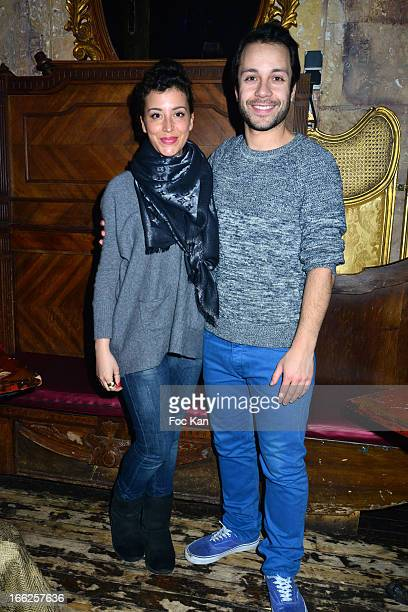 Gaelle Gauthier and Dan Menasche from musical comedy 'Mamma Mia' attend the Diana Espir' Show Case At the Reservoir Club on April 10 2013 in Paris...
