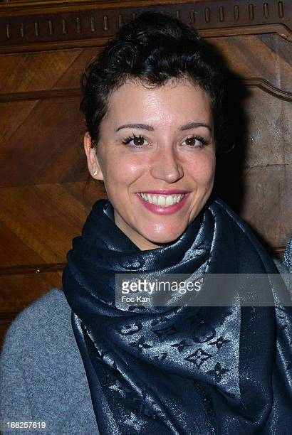 Gaelle Gauthier from musical comedy 'Mamma Mia' attends the Diana Espir' Show Case At the Reservoir Club on April 10 2013 in Paris France