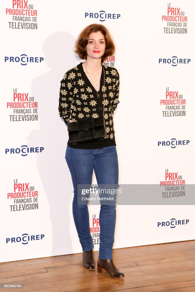 Gaelle Le Devehat attends the 23rd Prix Du Producteur Francais De Television, at the Trianon, on March 13, 2017 in Paris, France.