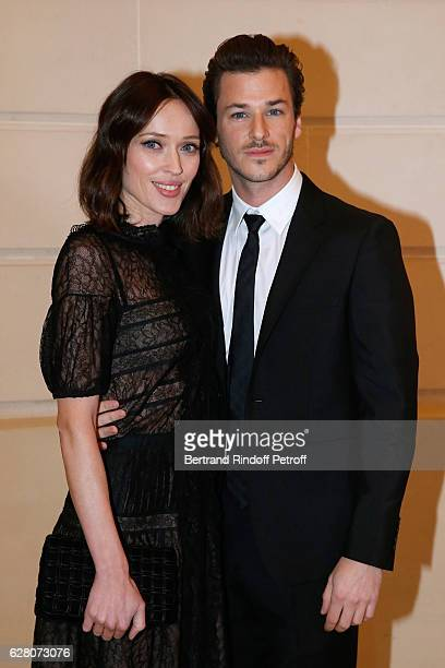 Gaelle Pietri and actor Gaspard Ulliel attend the Chanel Collection des Metiers d'Art 2016/17 Paris Cosmopolite Photocall at Hotel Ritz on December 6...