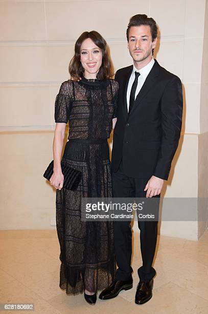 Gaelle Pietri and actor Gaspard Ulliel attend the Chanel Collection des Metiers d'Art 2016/17 Paris Cosmopolite show on December 6 2016 in Paris...