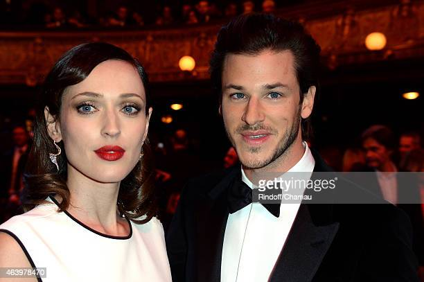 Gaelle Pietri and Gaspard Ulliel attend the 40th Cesar Film Awards 2015 Ceremony at Theatre du Chatelet on February 20 2015 in Paris France