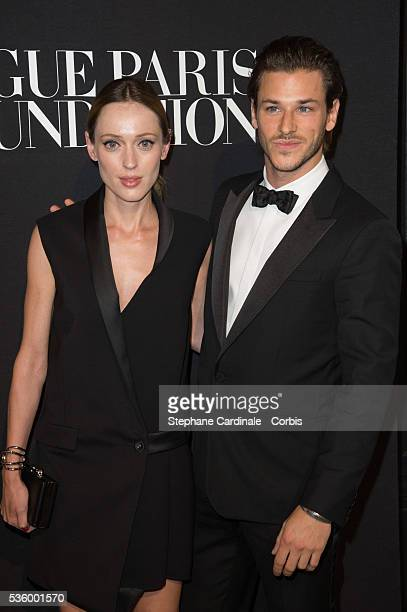 Gaelle Pietri and Gaspard Ulliel attends at the Foundation Gala at the Palais Galliera during the Paris Fashion Week Haute Couture Fall/Winter...