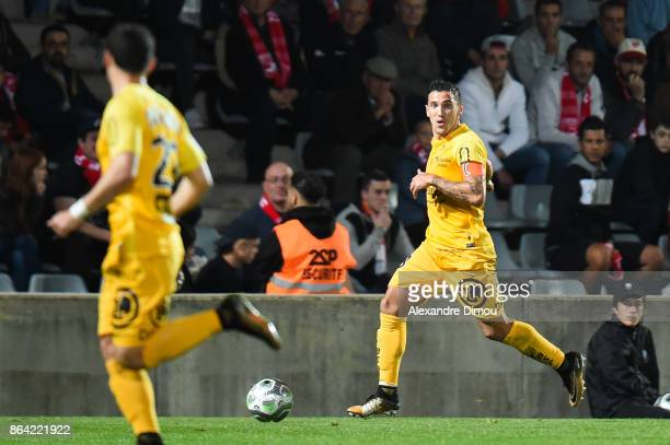 Gaetan Belaud of Brest during the Ligue 2 match between Nimes Olympique and Stade Brestois at on October 20 2017 in Nimes France