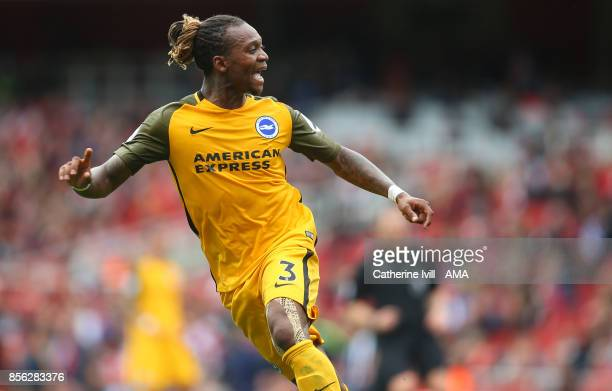 Gaetan Bong of Brighton and Hove Albion during the Premier League match between Arsenal and Brighton and Hove Albion at Emirates Stadium on October 1...