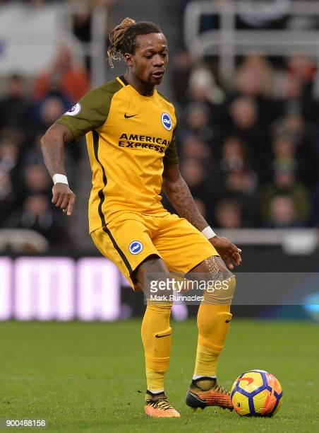 Gaetan Bong of Brighton and Hove Albion in action during the Premier League match between Newcastle United and Brighton and Hove Albion at St James...