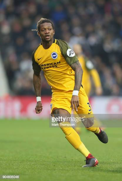 Gaetan Bong of Brighton and Hove Albion in action during the Premier League match between West Bromwich Albion and Brighton and Hove Albion at The...