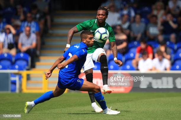 Gaetan Bong of Brighton and Hove Albion during the pre season friendly match between AFC Wimbledon and Brighton and Hove Albion at The Cherry Red...