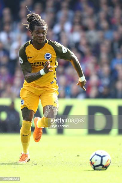 Gaetan Bong of Brighton Hove Albion in action during the Premier League match between Crystal Palace and Brighton and Hove Albion at Selhurst Park on...