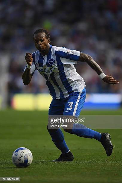 Gaetan Bong of Brighton Hove Albion in action during the Sky Bet Championship match between Brighton Hove Albion and Rotherham at Amex Stadium on...