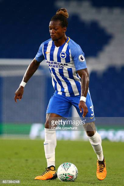 Gaetan Bong of Brighton in action during the Carabao Cup Second Round match between Brighton Hove Albion and Barnet at Amex Stadium on August 22 2017...