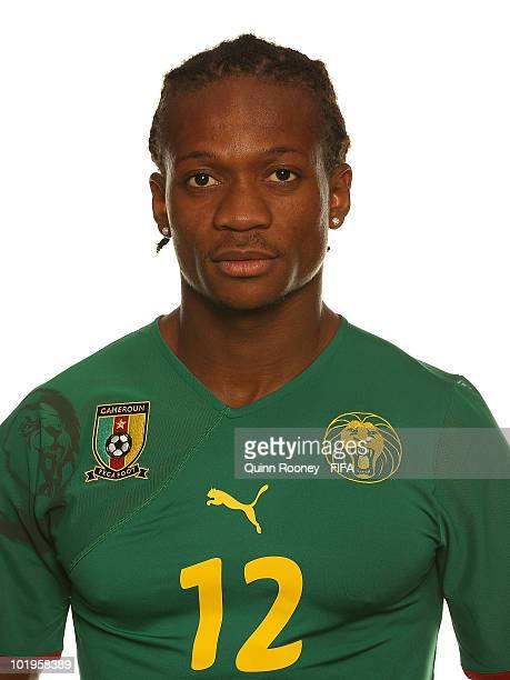 Gaetan Bong of Cameroon poses during the official FIFA World Cup 2010 portrait session on June 10 2010 in Durban South Africa