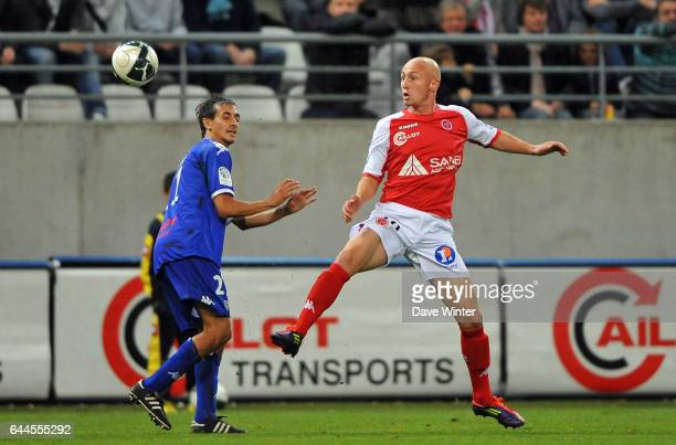 Gaetan COURTET / Fethi HAREK Reims / Bastia 9e journee de Ligue 2 Photo Dave Winter / Icon Sport