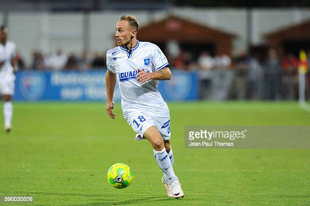 Gaetan COURTET of Auxerre during the football Ligue 2 between Bourg en Bresse and Aj Auxerre at Stade MarcelVerchere on August 12 2016 in...