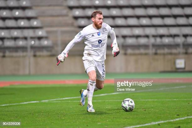 Gaetan Deneuve of FBBP 01 during the Ligue 2 match between Paris FC and Bourg en Bresse at Stade Charlety on January 12 2018 in Paris France