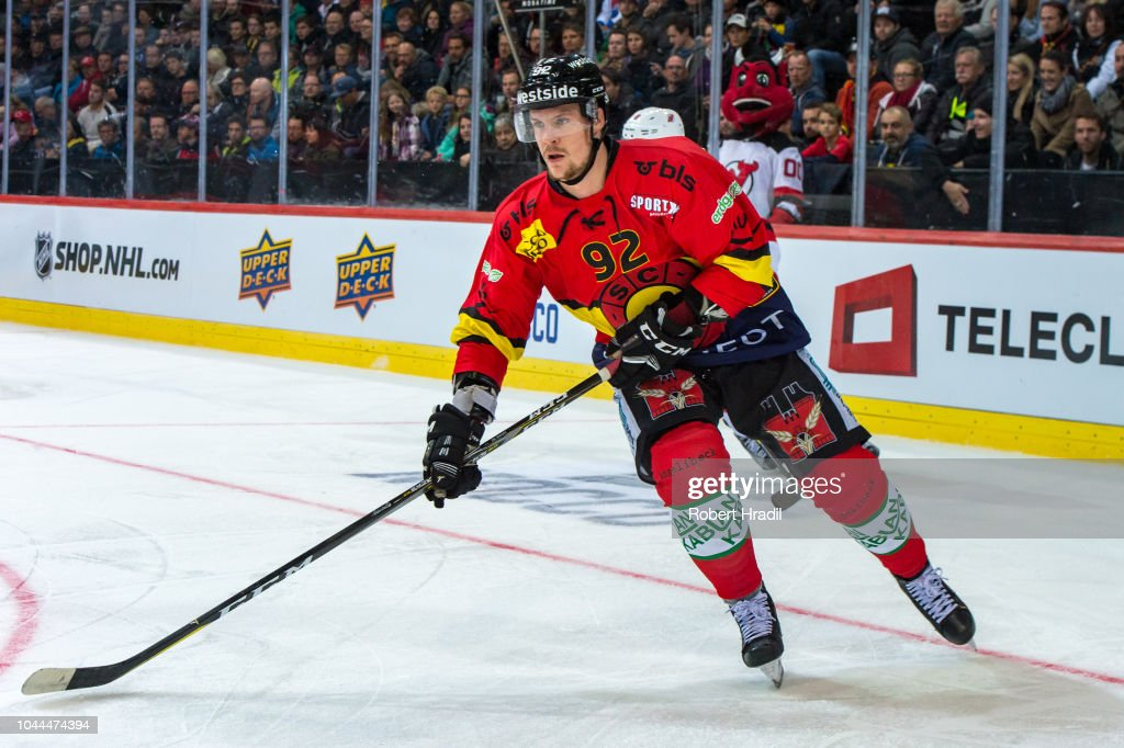 save off 31174 219d6 Gaetan Haas of SC Bern in action during the NHL Global ...