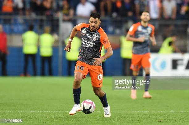 Gaetan Laborde of Montpellier during the Ligue 1 match between Montpellier and Nimes at Stade de la Mosson on September 30 2018 in Montpellier France