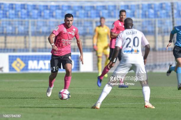 Gaetan Laborde of Montpellier during the Ligue 1 match between Montpellier and Bordeaux at Stade de la Mosson on October 21, 2018 in Montpellier,...