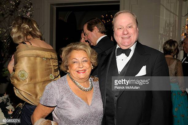 Gaetana Enders and Victor Shafferman attend Venetian Heritage Event Honoring Larry Lovett at St Regis Hotel on March 31 2008 in New York City