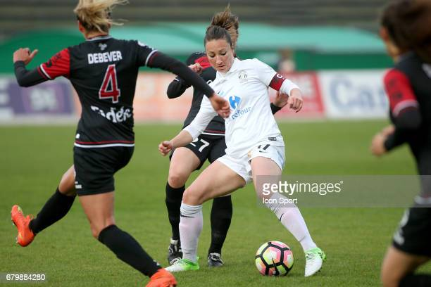 Gaetane Thiney during the Women's Division 1 match between Juvisy and Guingamp on May 6, 2017 in Evry, France.