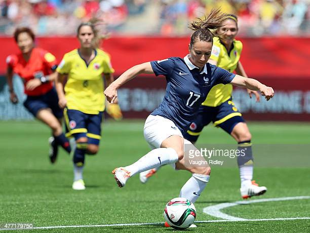 Gaetane Thiney of France during the FIFA Women's World Cup Group F match between France and Colombia at Moncton Stadium on June 13 2015 in Moncton...