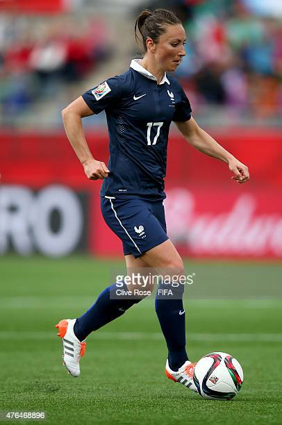 Gaetane Thiney of France in action during the FIFA Women's World Cup 2015 Group F match between France and England at the Moncton Stadium on June 9...