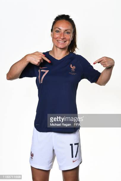 Gaetane Thiney of France poses for a portrait during the official FIFA Women's World Cup 2019 portrait session at Hotel Clairefontaine on June 04...