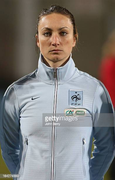Gaetane Thiney of France poses prior to the women international friendly match between France and Brazil at the Robert Diochon stadium on March 9...