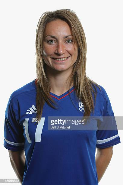 Gaetane Thiney poses during the France Women's official Olympic Football Team portraits on July 21 2012 in Glasgow Scotland