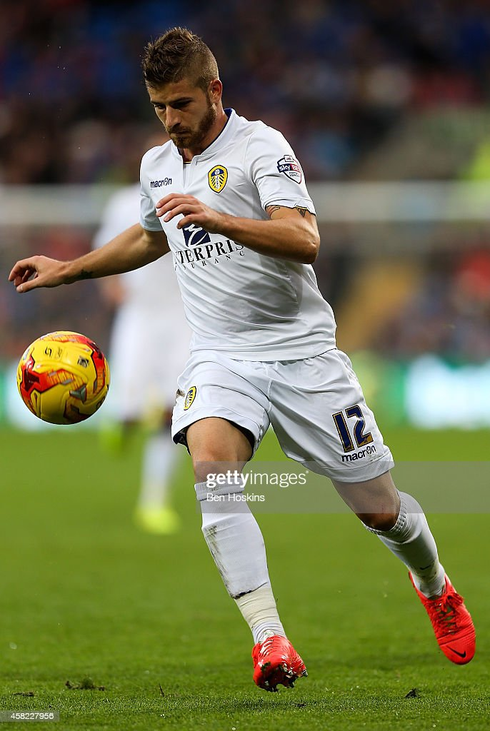 Gaetano Berardi of Leeds in action during the Sky Bet Championship match between Cardiff City and Leeds United at Cardiff City Stadium on November 1, 2014 in Cardiff, Wales.