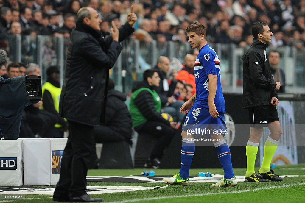 Gaetano Berardi of UC Sampdoria leaves the field after receiving a red card during the Serie A match between Juventus FC and UC Sampdoria at Juventus Arena on January 6, 2013 in Turin, Italy.