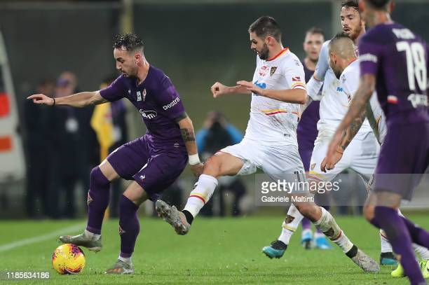 Gaetano Castrovilli of ACF Fiorentina in action during the Serie A match between ACF Fiorentina and US Lecce at Stadio Artemio Franchi on November...
