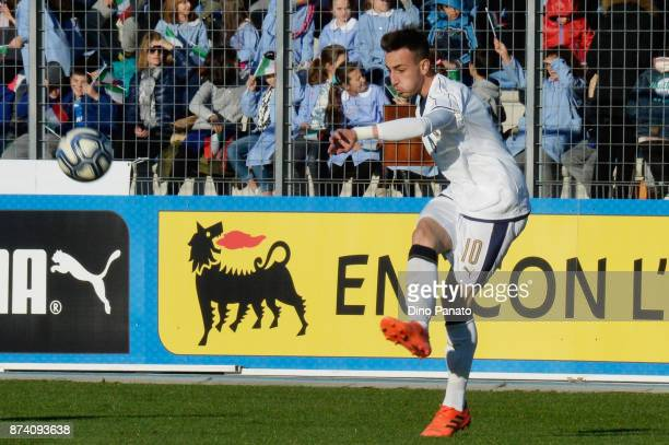 Gaetano Castrovilli of Italy U20 competes during the 8 Nations Tournament match between Italy U20 and Netherlands U20 at Stadio G Teghil on November...